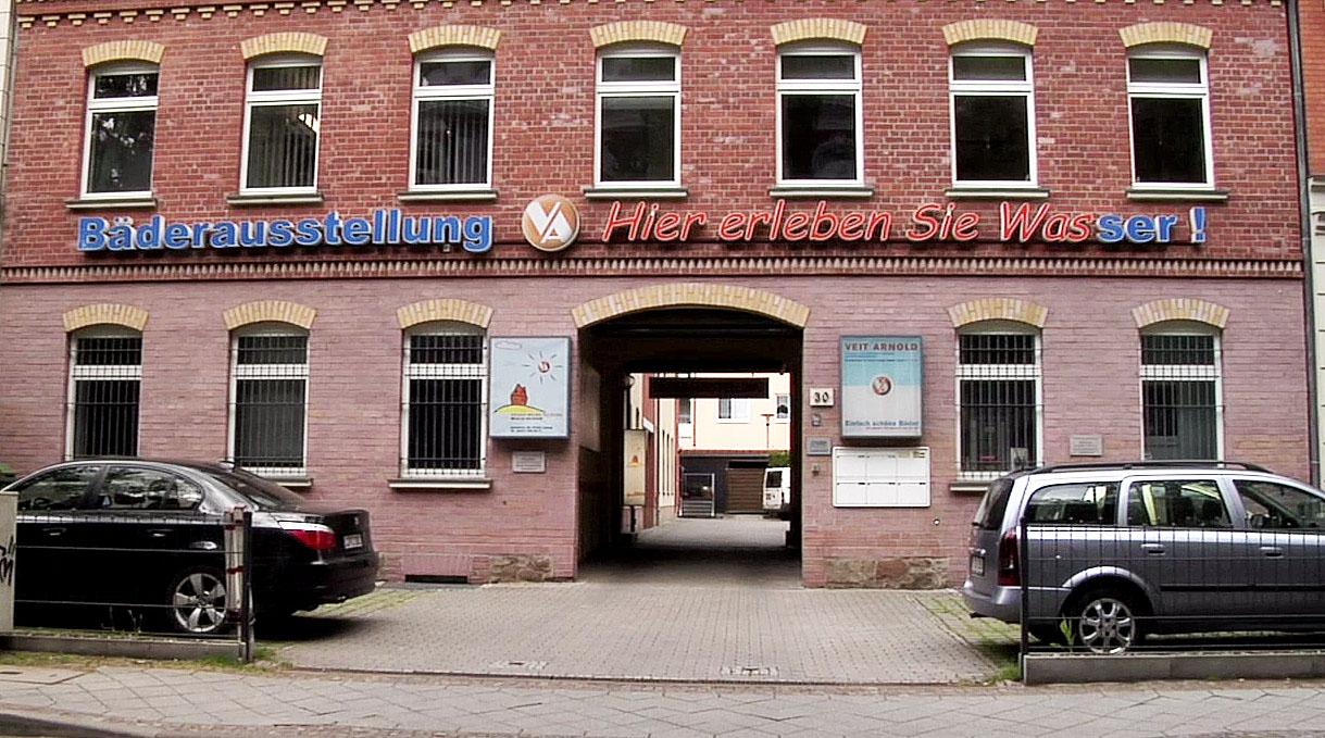 Badausstellung Leipzig Eingang